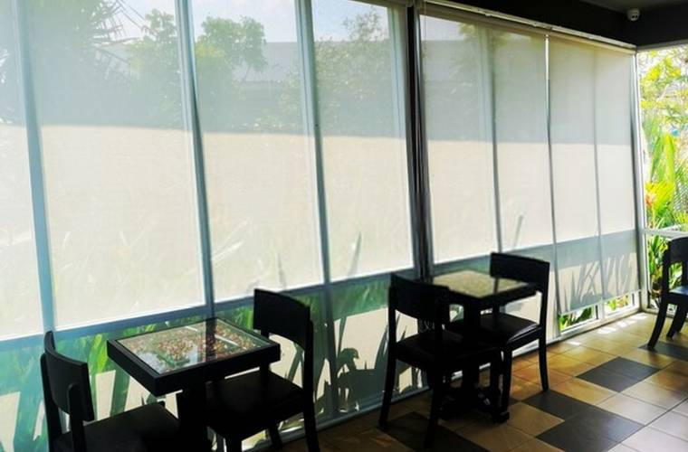 blackout roller blinds for office