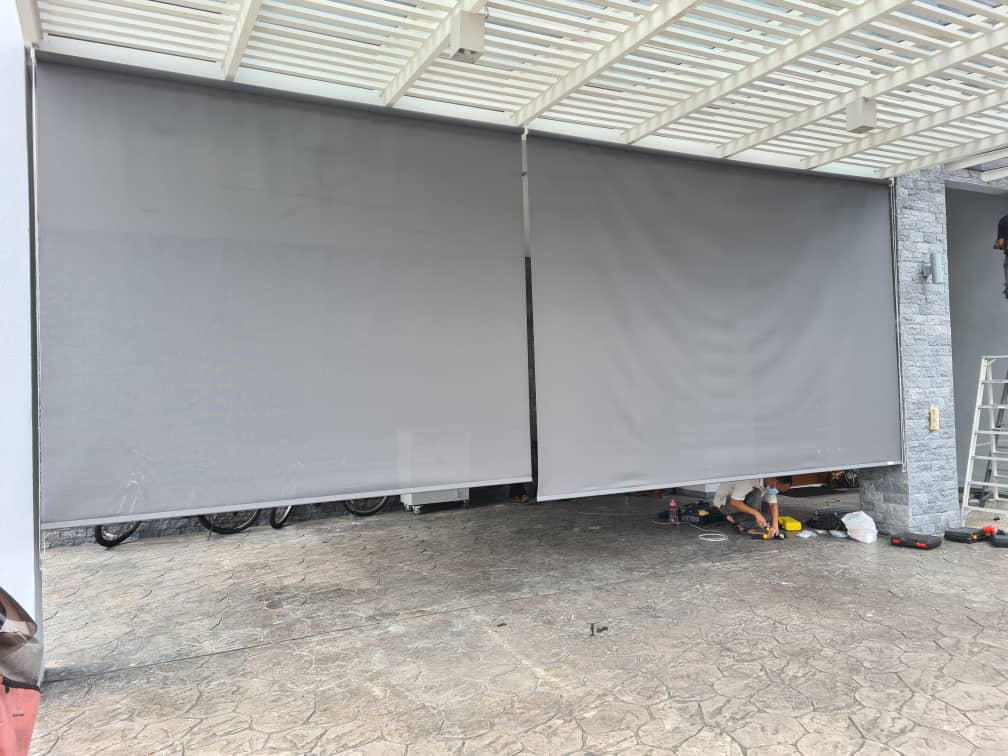 outdoor blinds for car porch