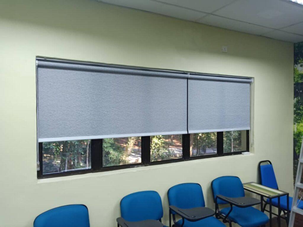home office windows roller blinds