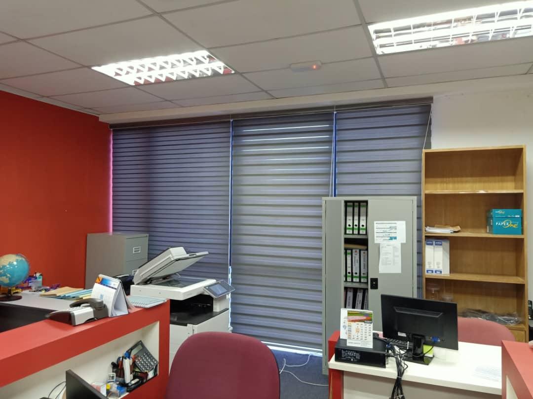 office zebra shades