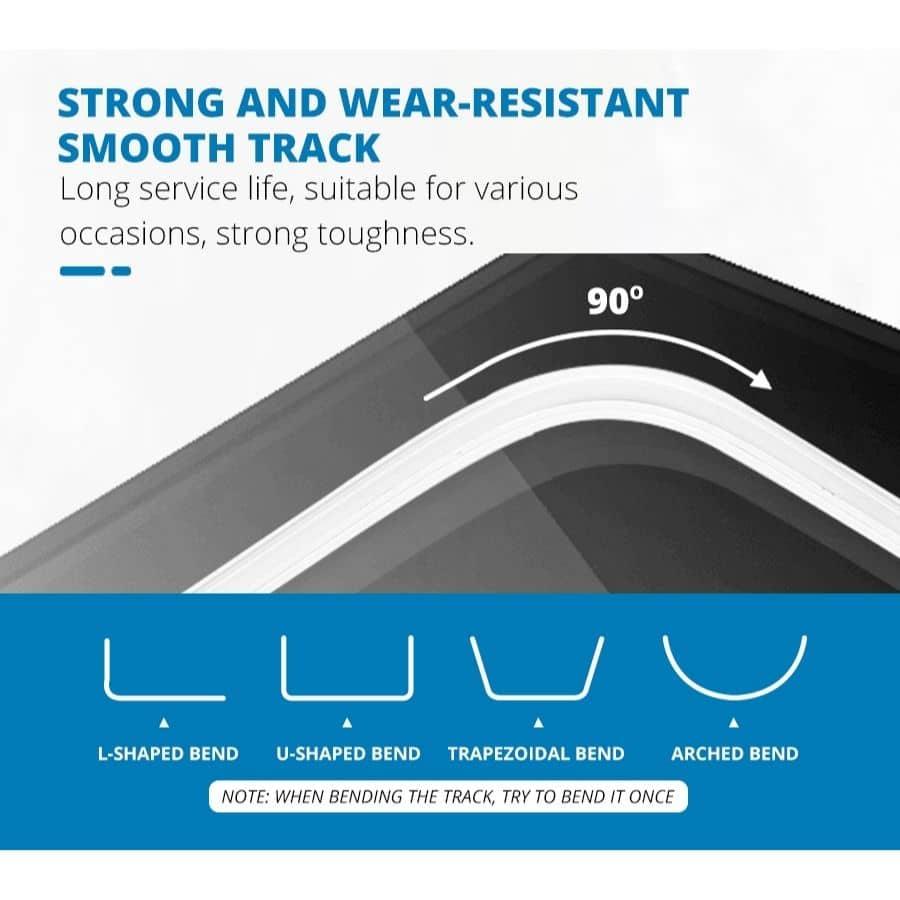 curve curtain track